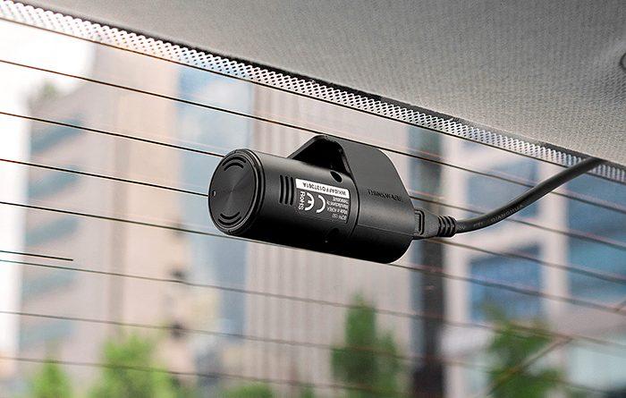 dash camera mounted on rear window
