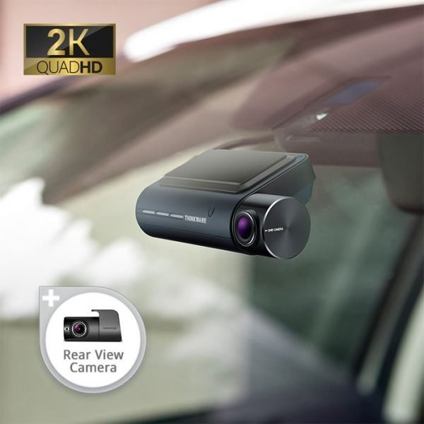 qa100 dash cam mounted on windshield