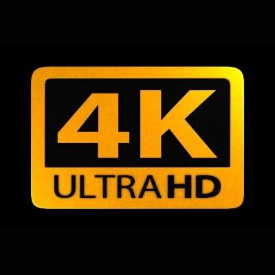 4k resolution logo