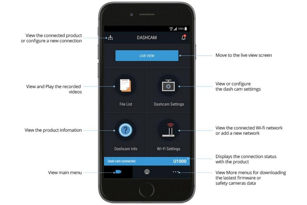 smart phone app for dash cam
