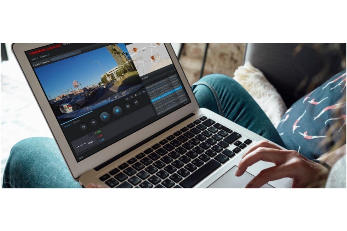 thinkware desktop software on laptop