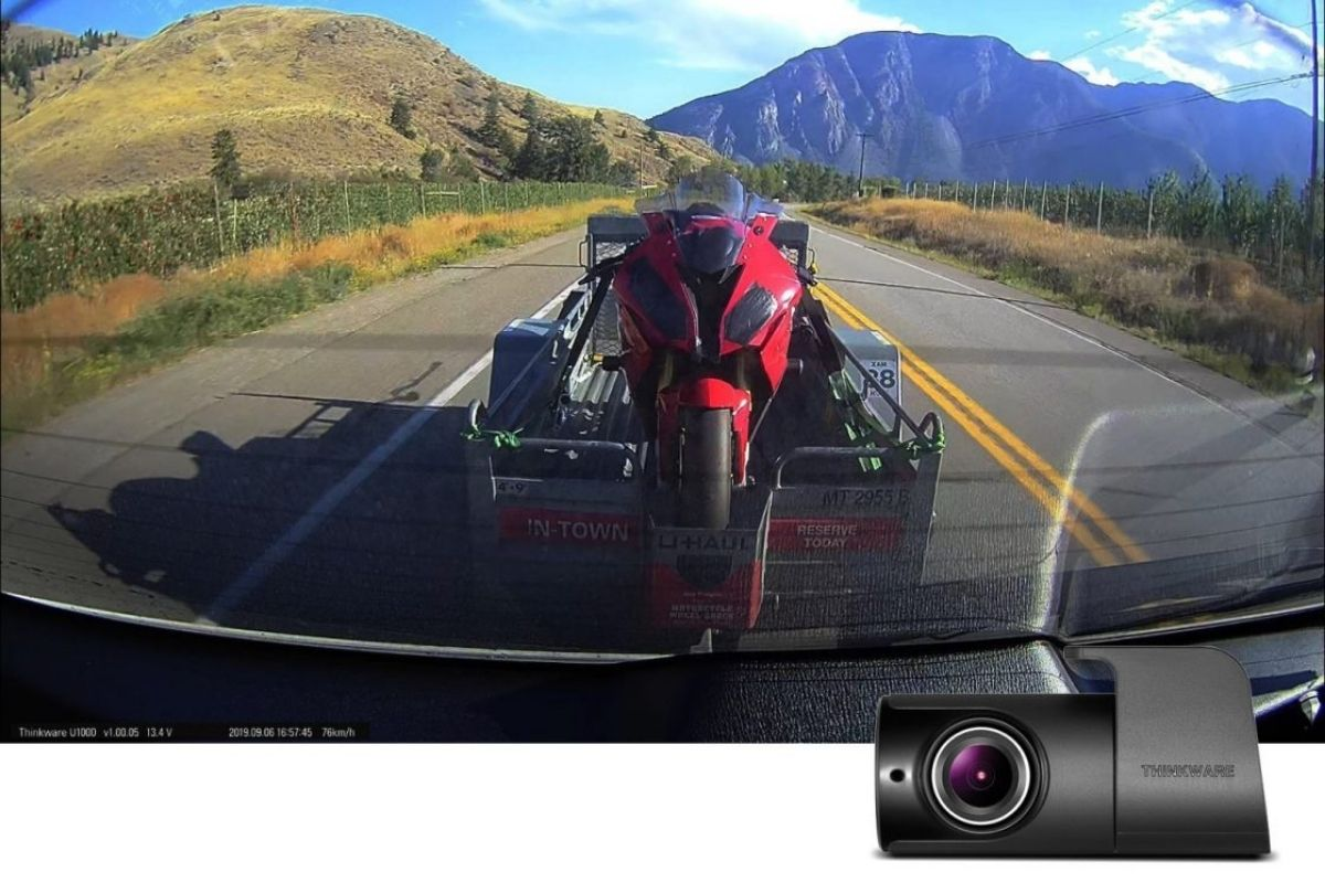 u1000 rear dash camera video footage