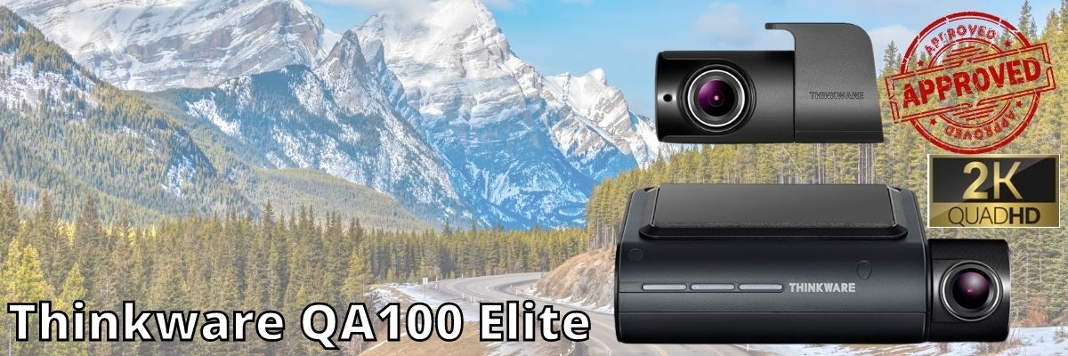 thinkware qa100 dash cam with mountains and road in background