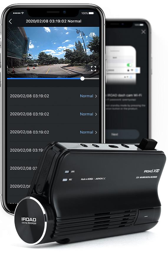 iroad x10 dash cam with phones