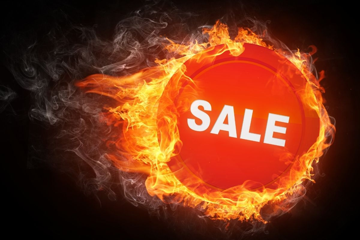 on sale fire logo