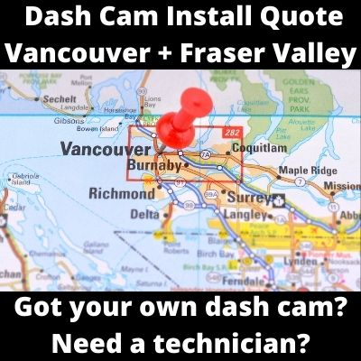 map of vancouver where dash cam installs are covered