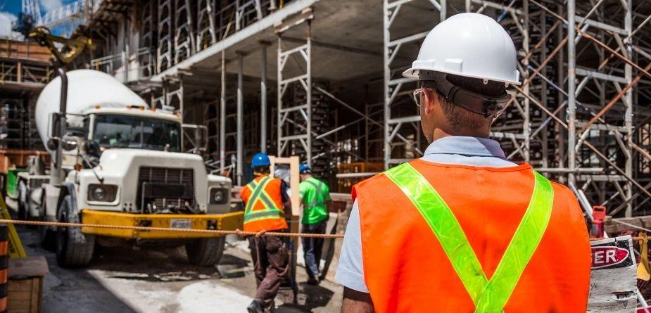 cement mixer construction site