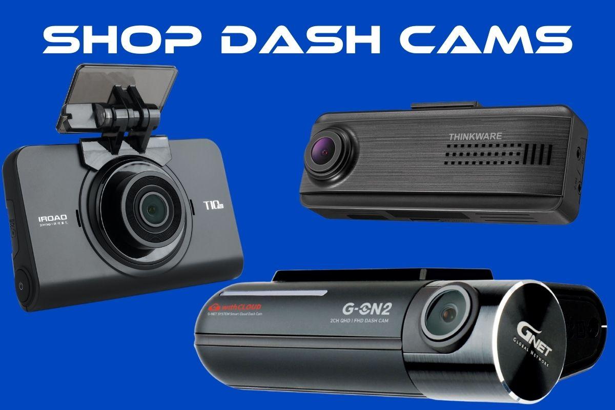 shop dash cams collage