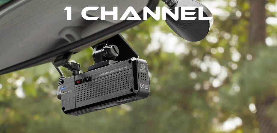 1 channel camera mounted on front windshield